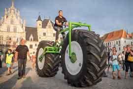 世界上最重的自行车,重达860公斤(长5.04米)
